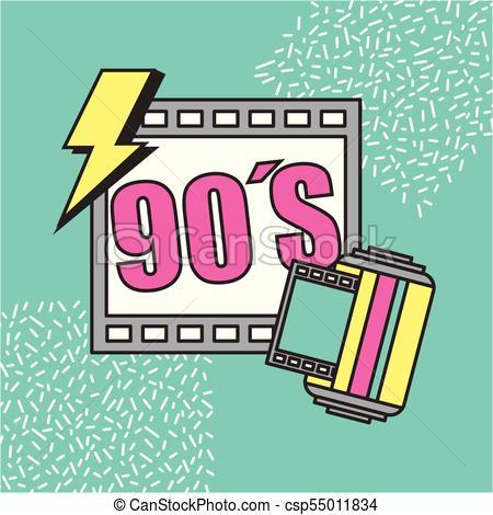 movie cinema 90s retro festival.