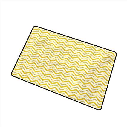 Amazon.com : Axbkl Pet Door mat Yellow Chevron Abstract Zig.