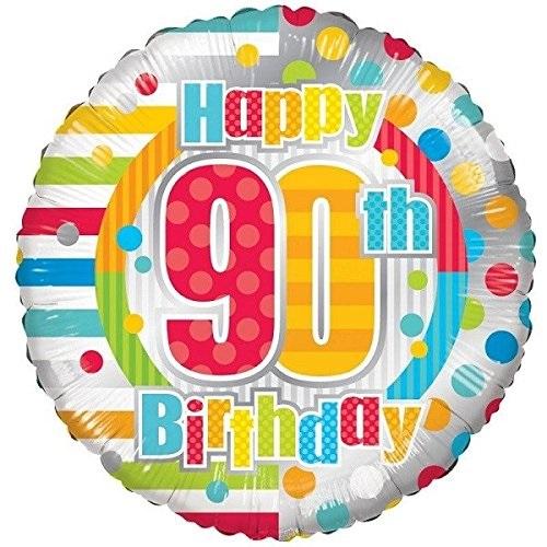\'Happy 90th Birthday\' Foil Balloon.
