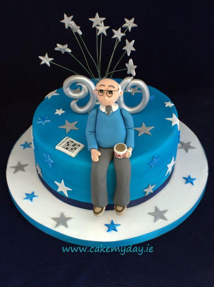 male 90th birthday cake.