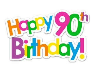 90th Birthday Clipart.