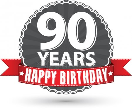 Happy 90th birthday Stock Vectors, Royalty Free Happy 90th birthday.