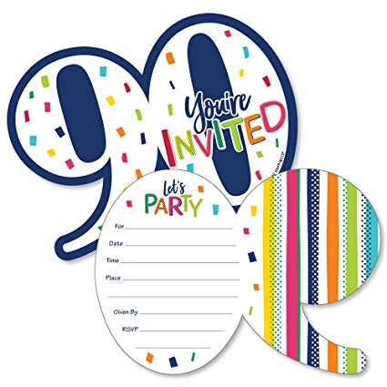 90th Birthday.