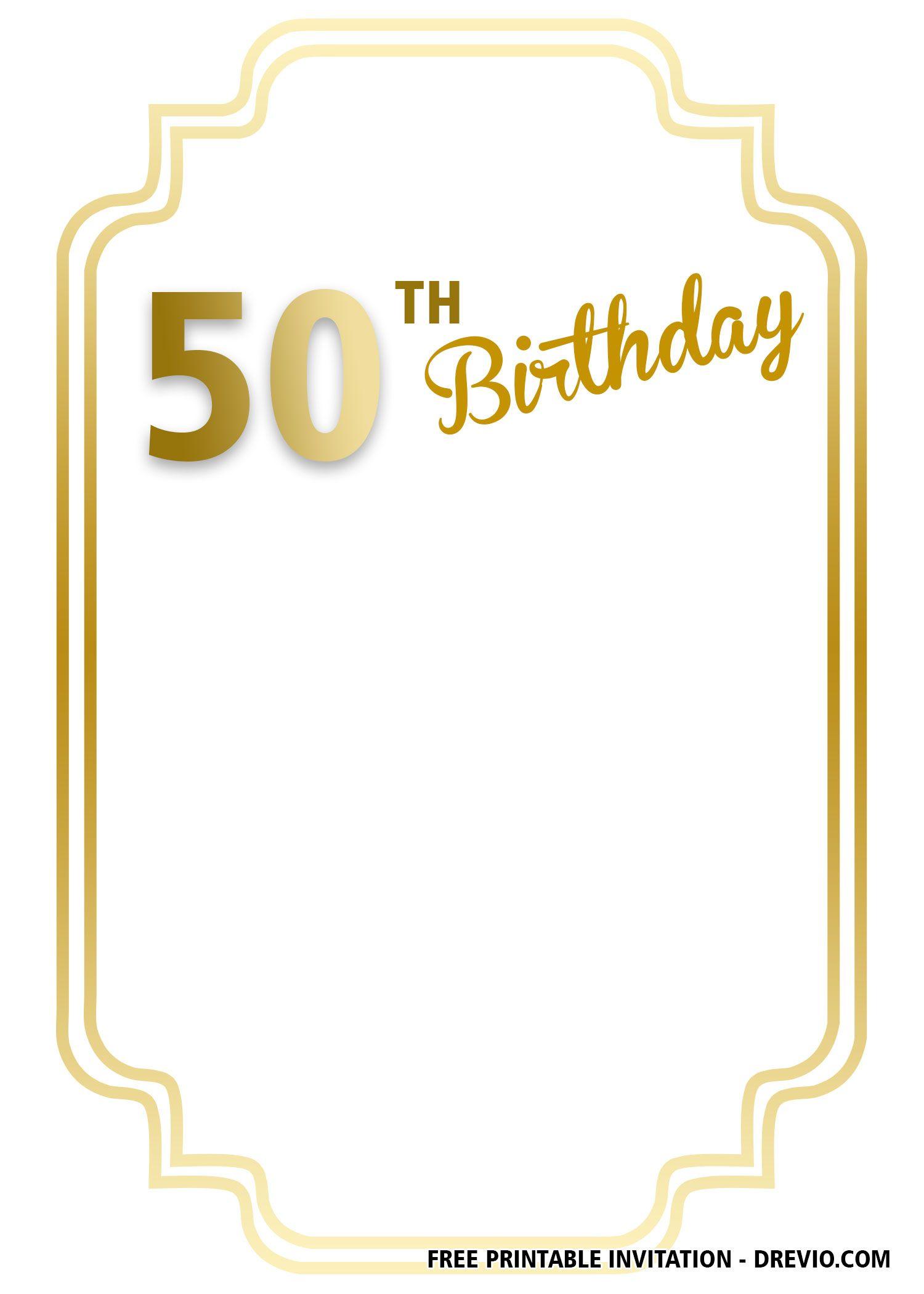 FREE Printable 90th Birthday Invitation Templates.