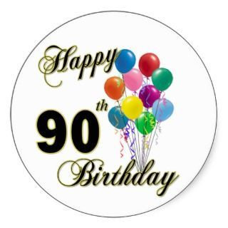 Awesome 90th birthday clip art.