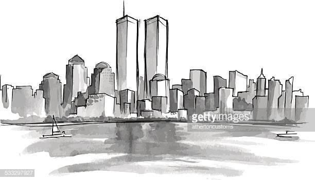 World's Best September 11 2001 Attacks Stock Illustrations.