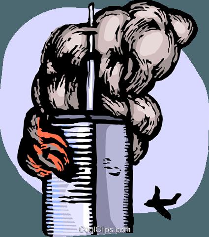 Terror attacks Royalty Free Vector Clip Art illustration.