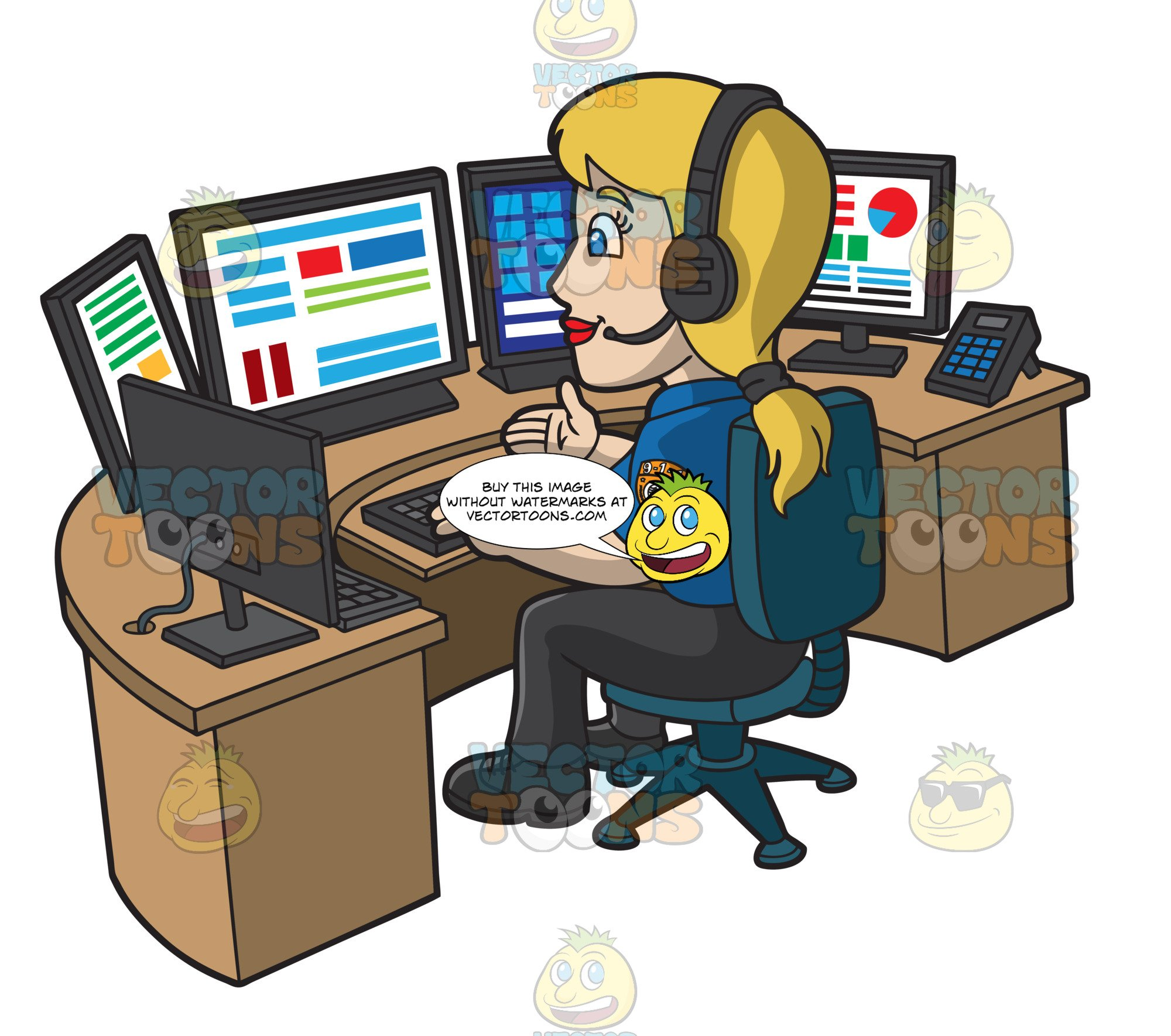 A Calm Female 911 Dispatcher.