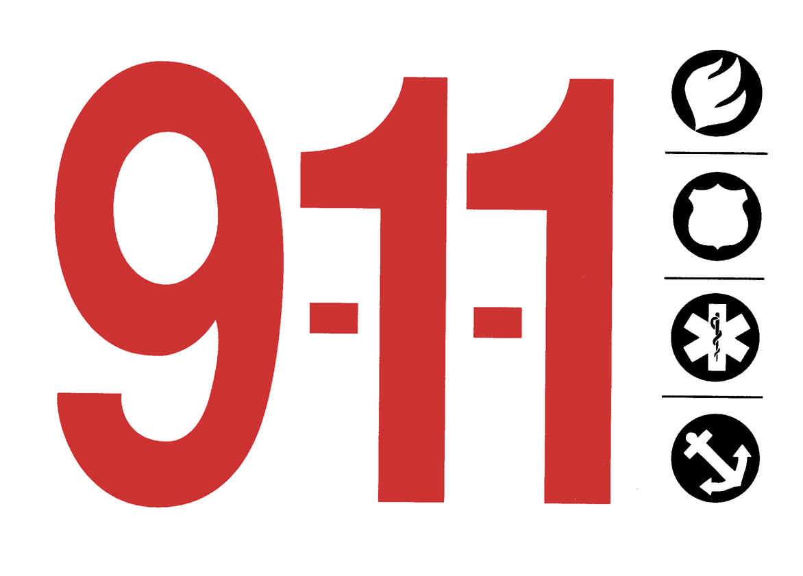 911 Emergency Clipart.