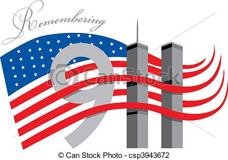 Remembering 911 clipart.