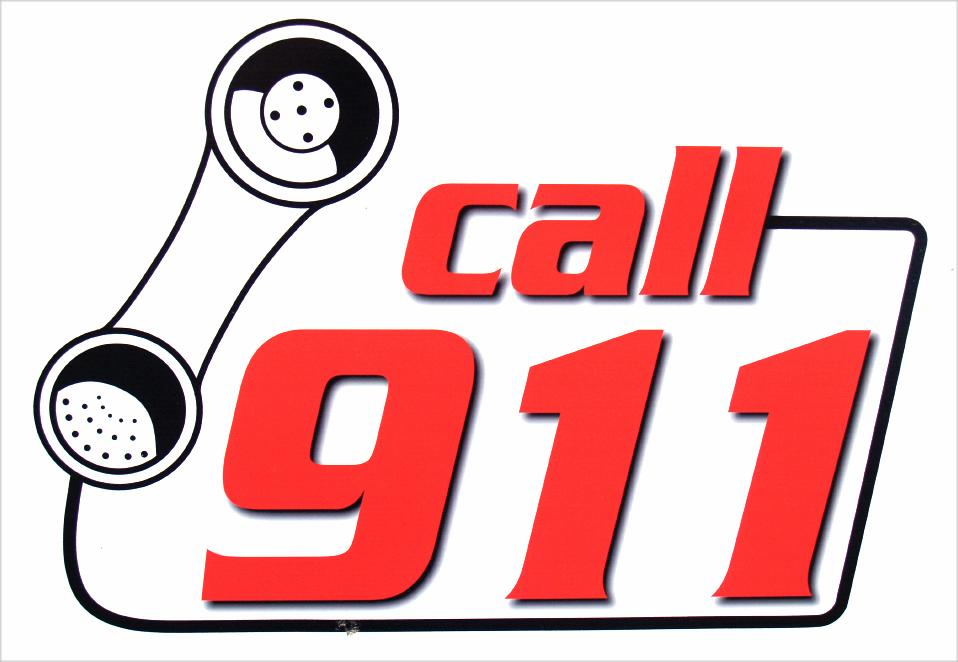 Calling 911 Clipart.