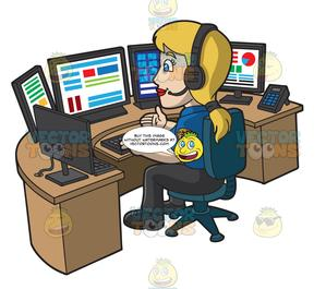 A Calm Female 911 Dispatcher.
