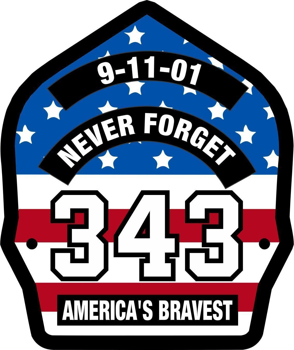 Amazon.com: MAGNET Firefighter 911 Never Forget 343 USA Flag.