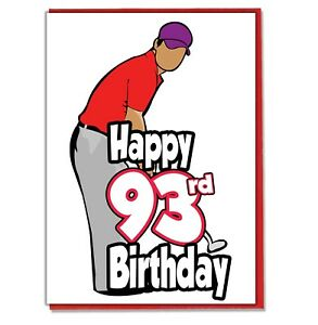 Details about Golf Golfer 93rd Birthday Card.