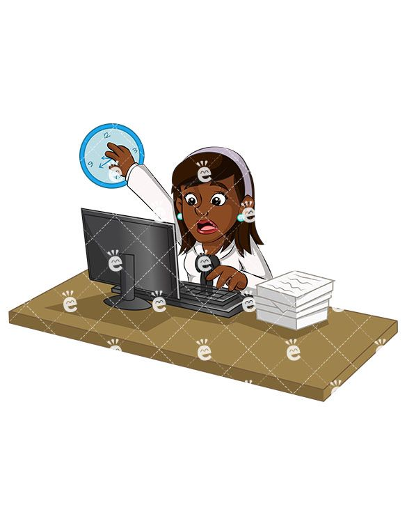 An Overworked Black Businesswoman Trying To Catch Up.