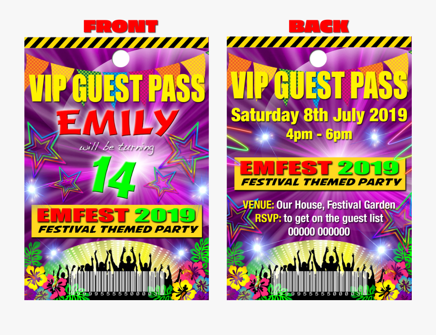 Festival Theme Party, Name Fest, Pink, Vip Guest Party.