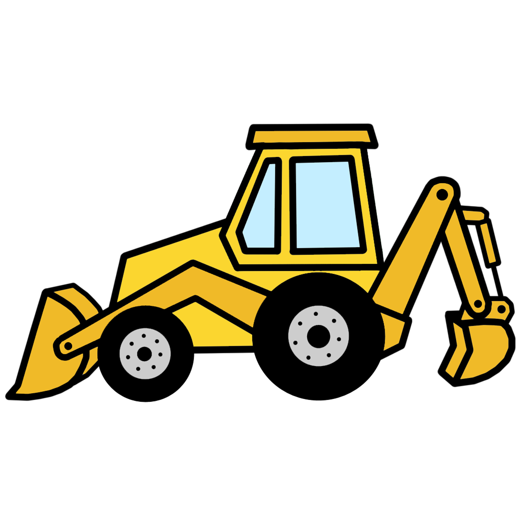 Backhoe loader clipart clipart images gallery for free.