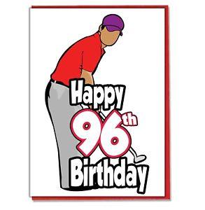Details about Golf Golfer 96th Birthday Card.