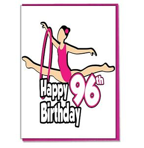 Details about Gymnastics 96th Birthday Card.