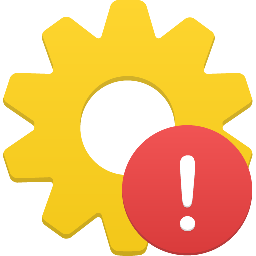 Process Warning Icon.