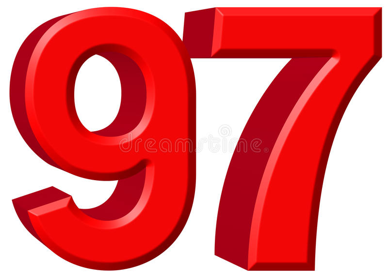 Numeral 97 Stock Illustrations.