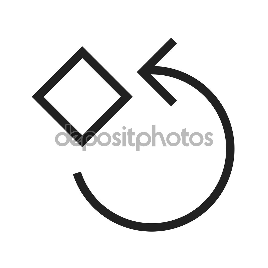 Rotate 90 Degrees — Stock Vector © dxinerz #97894658.