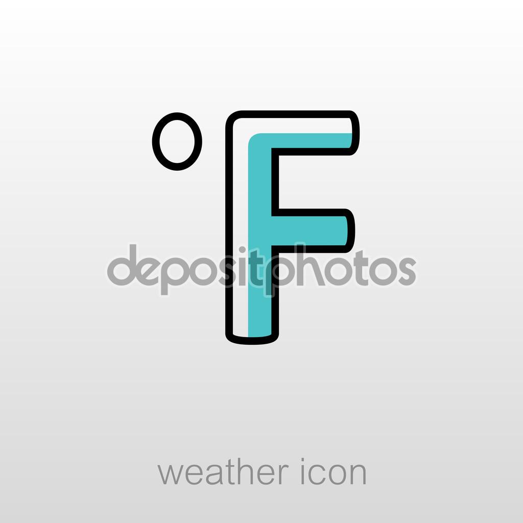 Degrees Fahrenheit icon. Meteorology. Weather — Stock Vector.