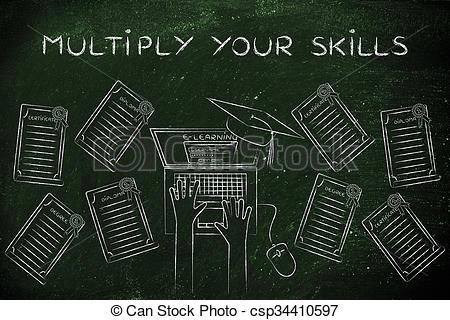 Stock Illustration of Multiply your skills, e.