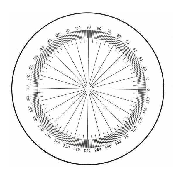 Protractor With 360 Degrees.