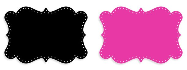 98 Colors Dotted Curvy Label Clipart Collection.
