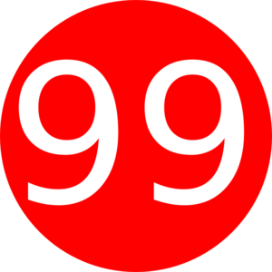 Number 99 clipart.