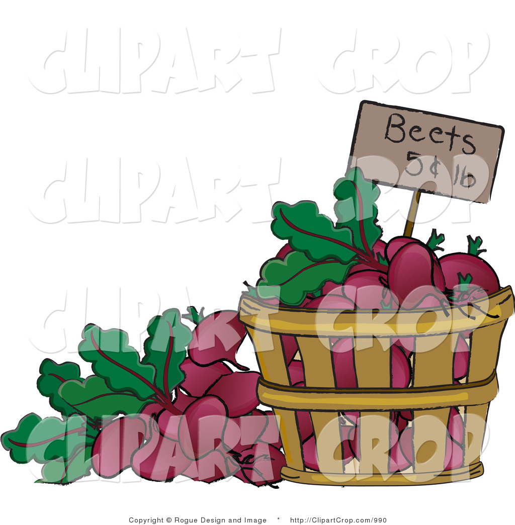 Clip Art of a Bucket of Beets for Sale by Pams Clipart.