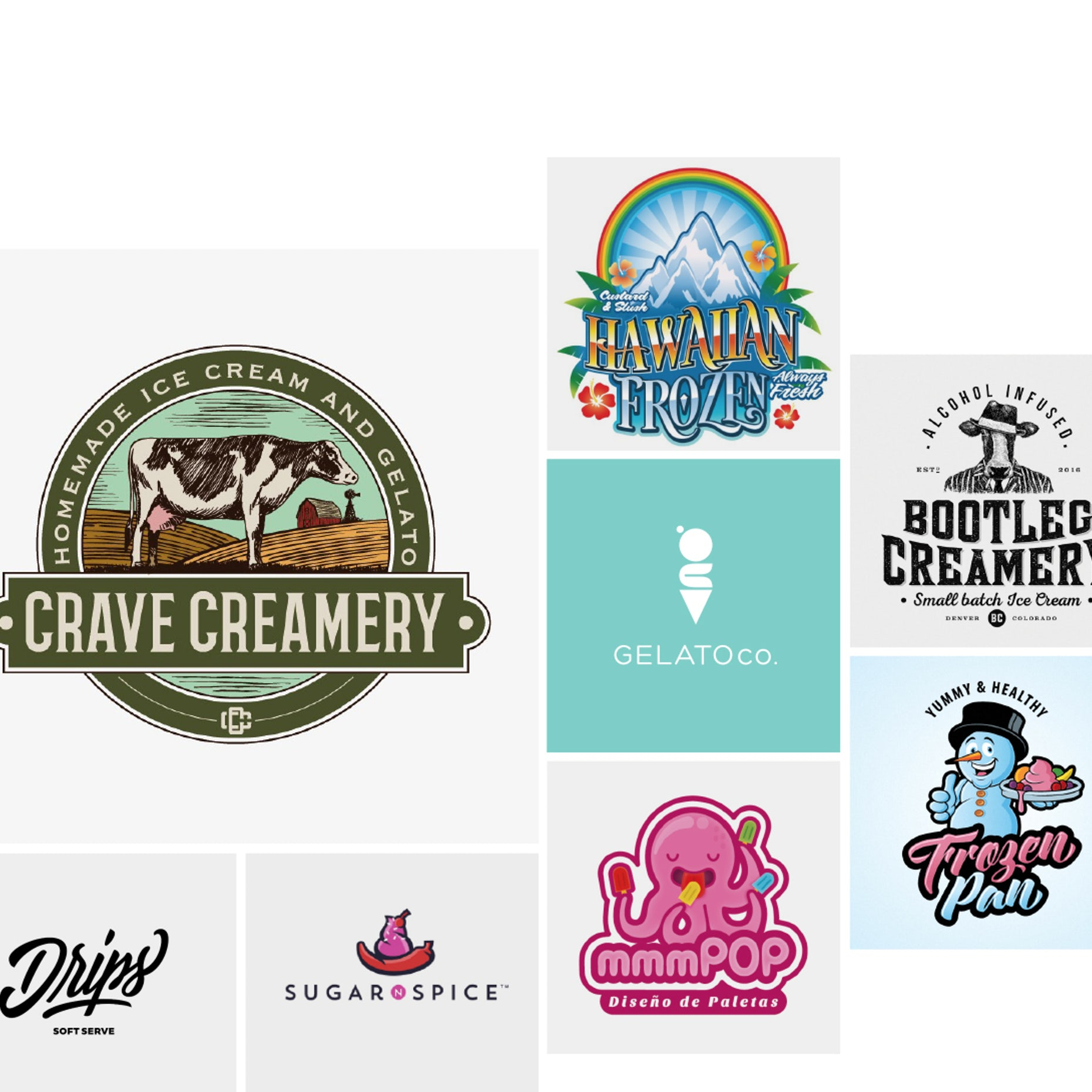 30 ice cream logos that will melt the competition.