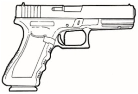 9Mm Glock Clipart.