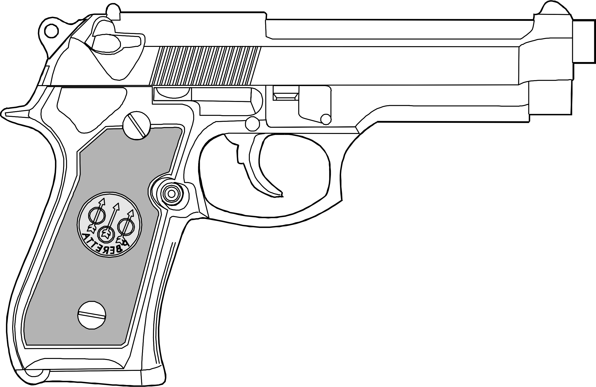 Pistol clipart 9mm, Pistol 9mm Transparent FREE for download.