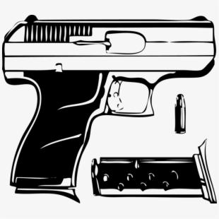 9mm Pistol Png.