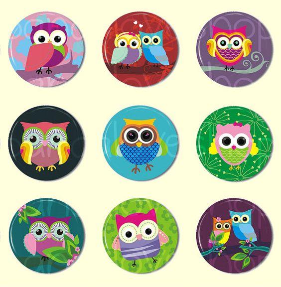 Cute Owl Buttons.