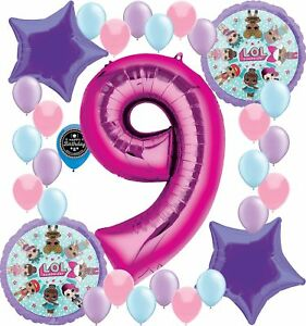 Details about Party Supplies Birthday LOL Balloons Bouquet Decorations  Bundle For (9TH BIRT.