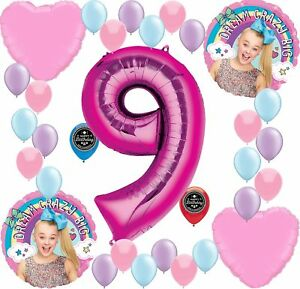 Details about JOJO SIWA Party Supplies Birthday Balloon Decoration Bundle  For (9th Birthday).