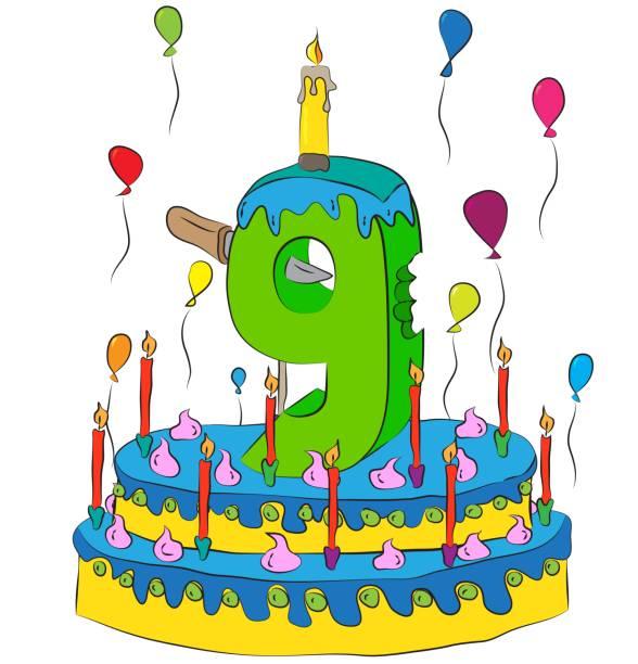 Birthday cake clip art 9th.