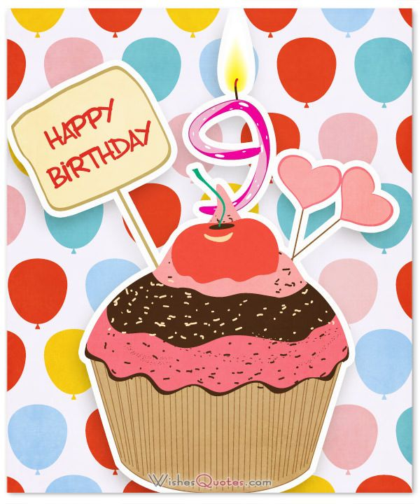 9th Birthday Wishes.