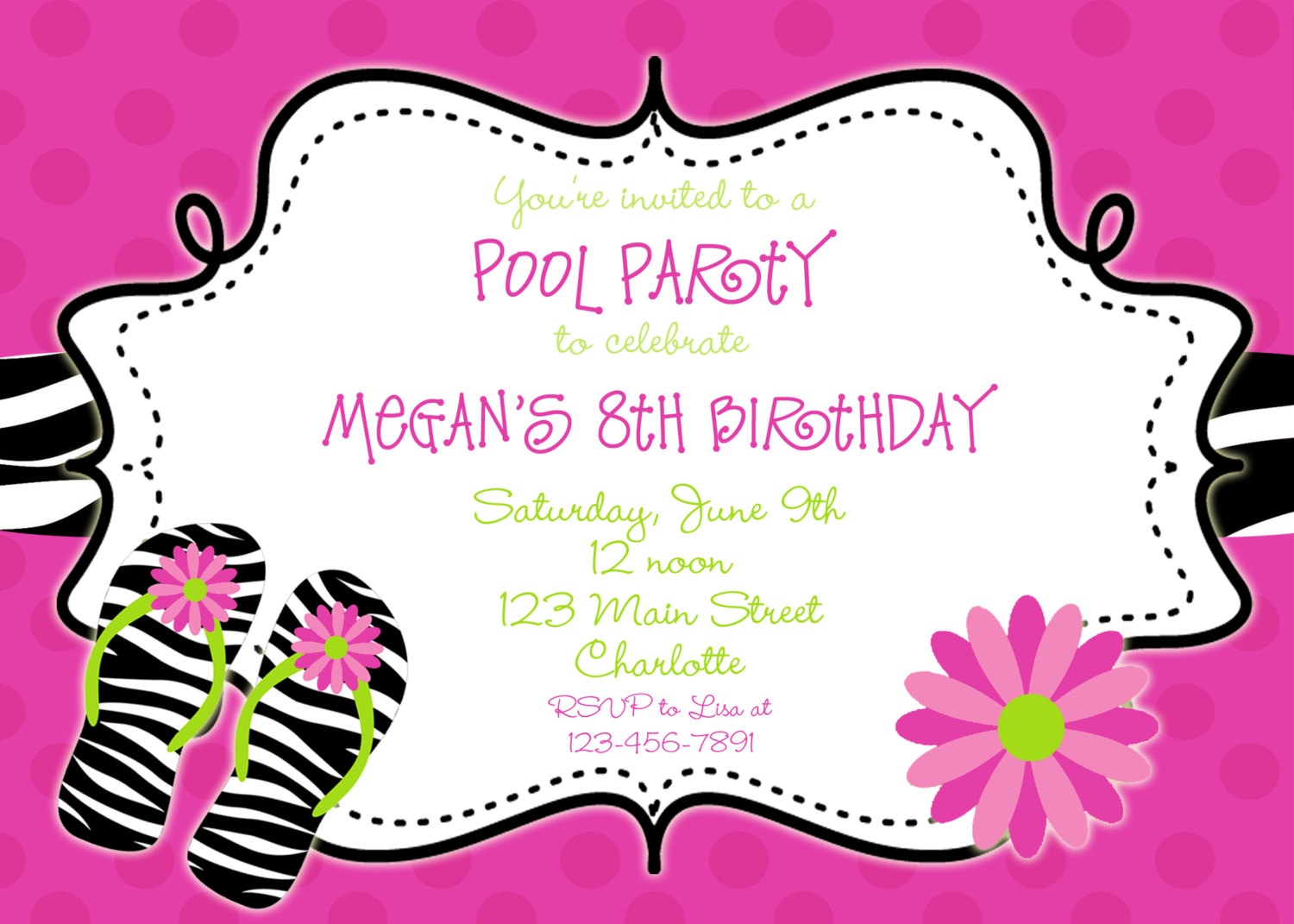Picture Of Pool Party Invitations — Liberty Decoration from.