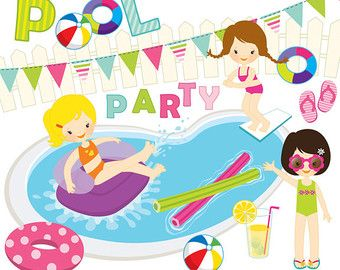 Swimming Pool Clip Art Borders.
