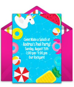 Free Summer Party Online Invitations.