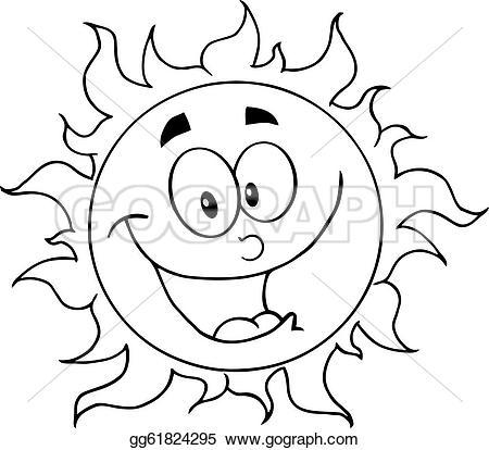 Burning Sun Clip Art.
