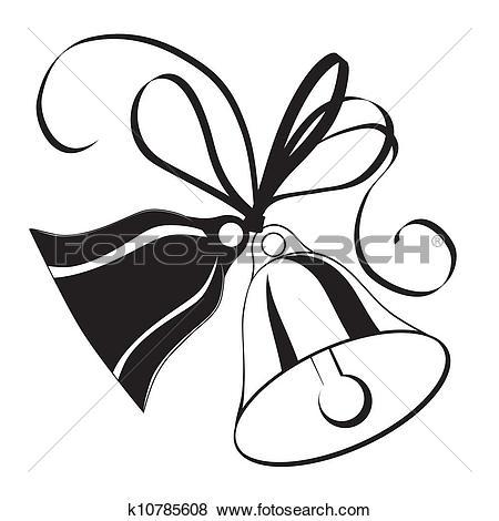 Clip Art of wedding bells vmo0082.