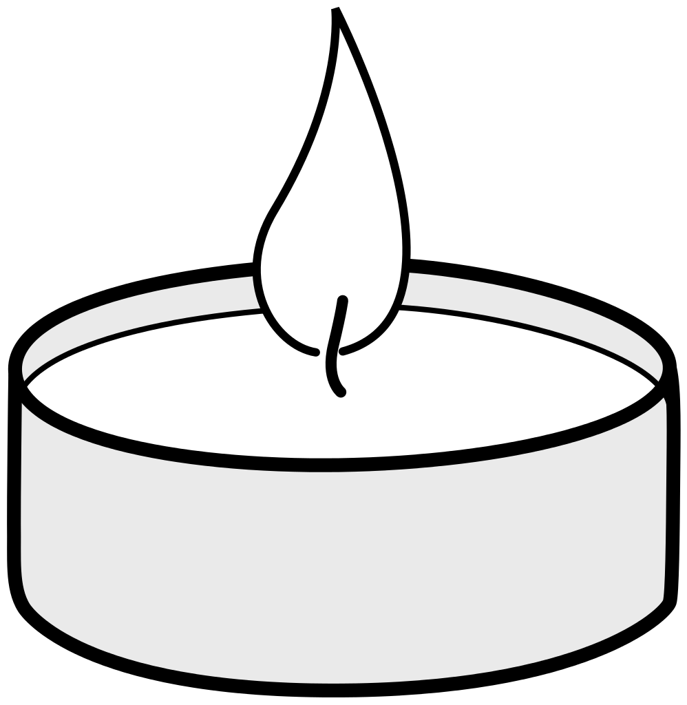 File:Clipart of a Tealight.svg.