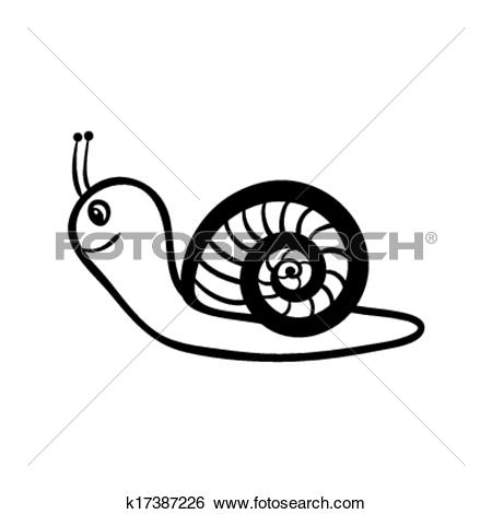 Clipart of A smiling snail k12108455.