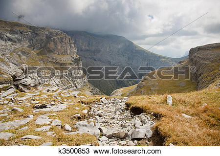 Stock Photo of Path to Canyon Anisclo k3500853.