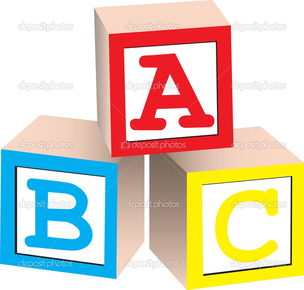 Alphabet Block Letters Clipart.